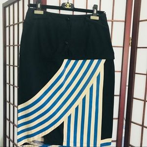 Dresses & Skirts - European black cotton skirt.